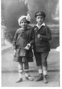Before the War - my mother with her brother in 1920