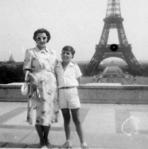 Between Poland and America - my mother & I in Paris 1949