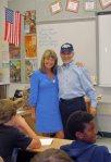 with teacher Rosemary Conroy