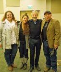 with Facing History's Quinn Van-Valer Campbell, Desiree Dela Pena and Jack Weinstein