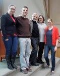with Holocaust Center staff Amanda Davis, Richard Greene and Karen Chachkes, and Karen Anderson