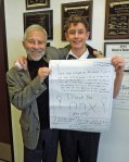 with Michael and his poster
