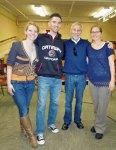 with teachers Lauren Slykhous, Stephen Flynn and Molly Orner