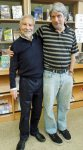 with librarian Mark Schneider