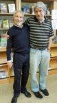 with librarian Mark Schneider