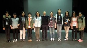 with Chinese students and teachers