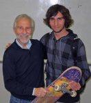 with Joshua and skateboard!