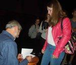 book signing with Olga