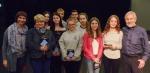 with Polish students and teachers - Back row: Weronika, Paulina, Michal, Michal, Zuzia; Front row: Ula Burda, Beate Adasik, Karolina, Olga, Oliwia