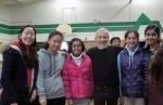 with Chloe, Caroline, Anoushka, Anika, Kavya