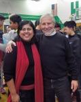 with teacher Ranjana Das