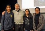 with Ananya, Alisa and Saumya