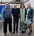 with teacher Josh Murphy, Grannie Hed and Annelise (thanks for the yummy lemon bars)