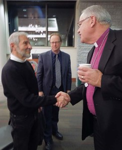 with Bishop Kirby Unti and Assistant Dean Michael Trice