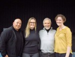 with Facing History's Jack Weinstein and teachers Caitlin Bellotti and Lindsay Gutierrez